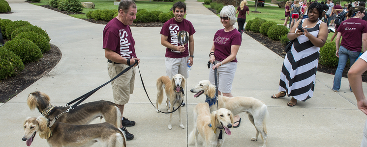 Saluki Dawgs on campus